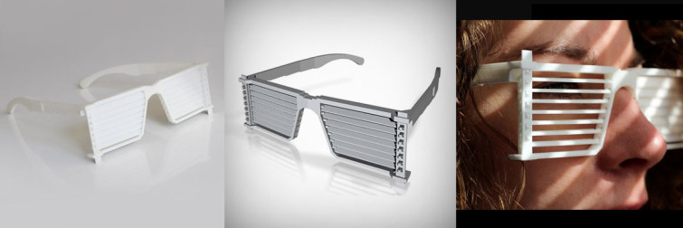 glasses with blinds