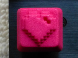 Custom Keyboard Heart Cap