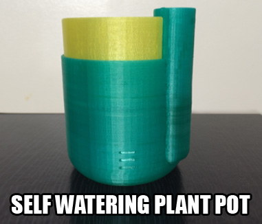 self watering pot plant