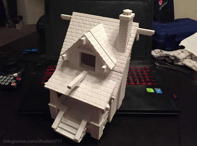 cool printed birdhouse