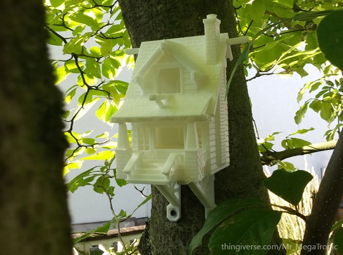 printed birdhouse